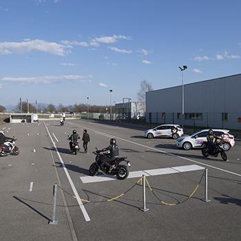 Habsheim piste moto auto école