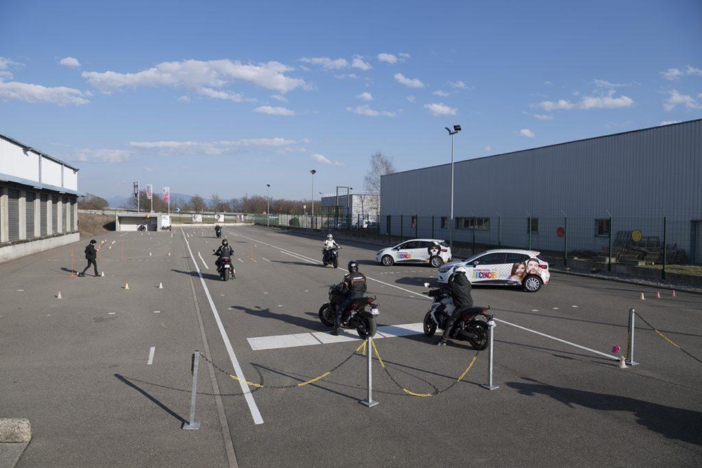 Habsheim piste moto voiture Honda